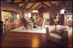 The interior at the Holualoa Inn on the Big Island.  For Modern Luxury Hawaii.