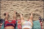 Sunbathers in Waikiki.