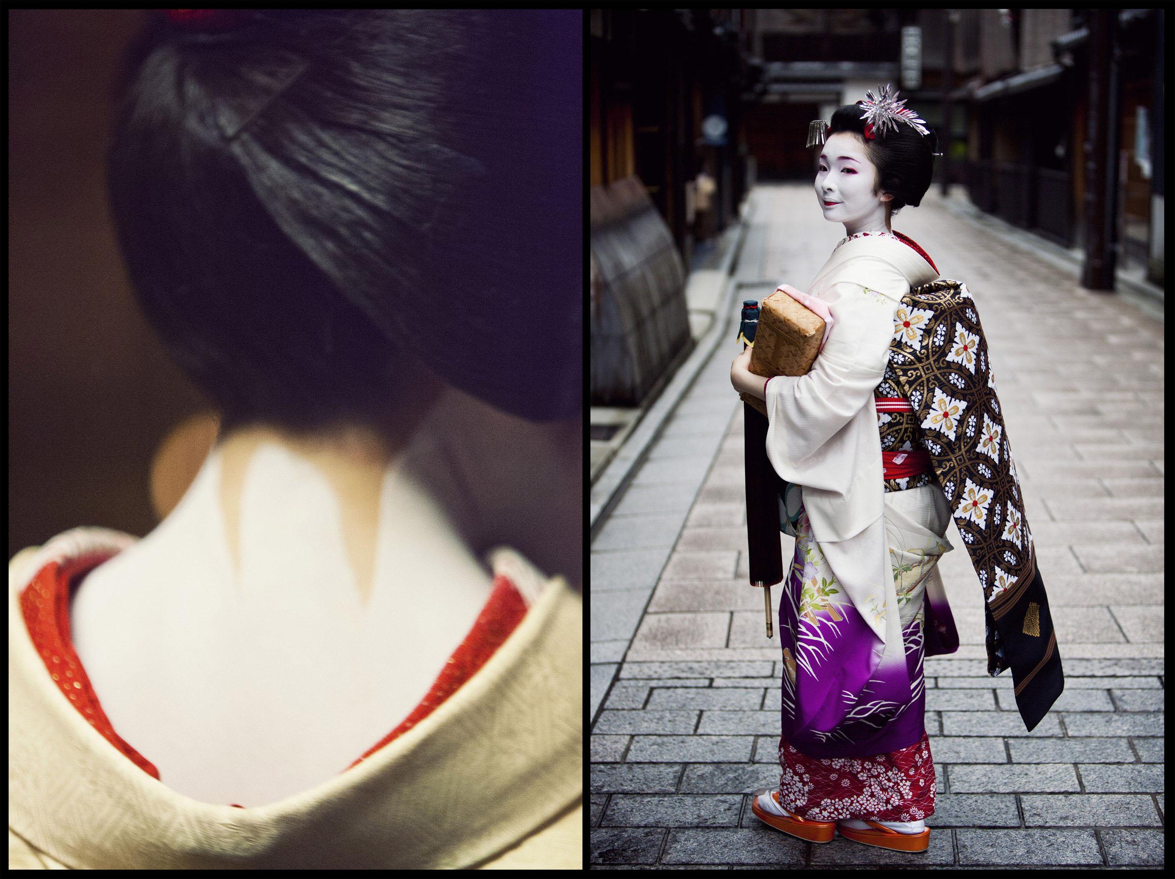 Geishas in Gion, Japan.