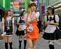 Costume wearing teens in Tokyo.