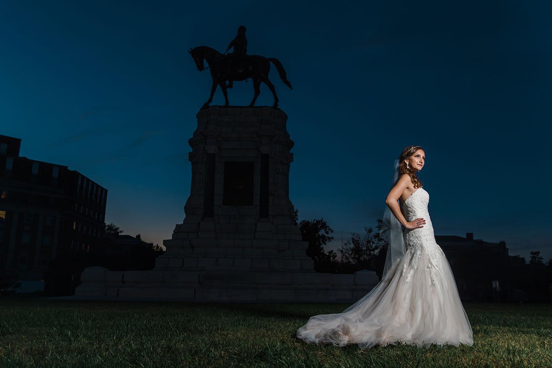 Richmond bridal portrait
