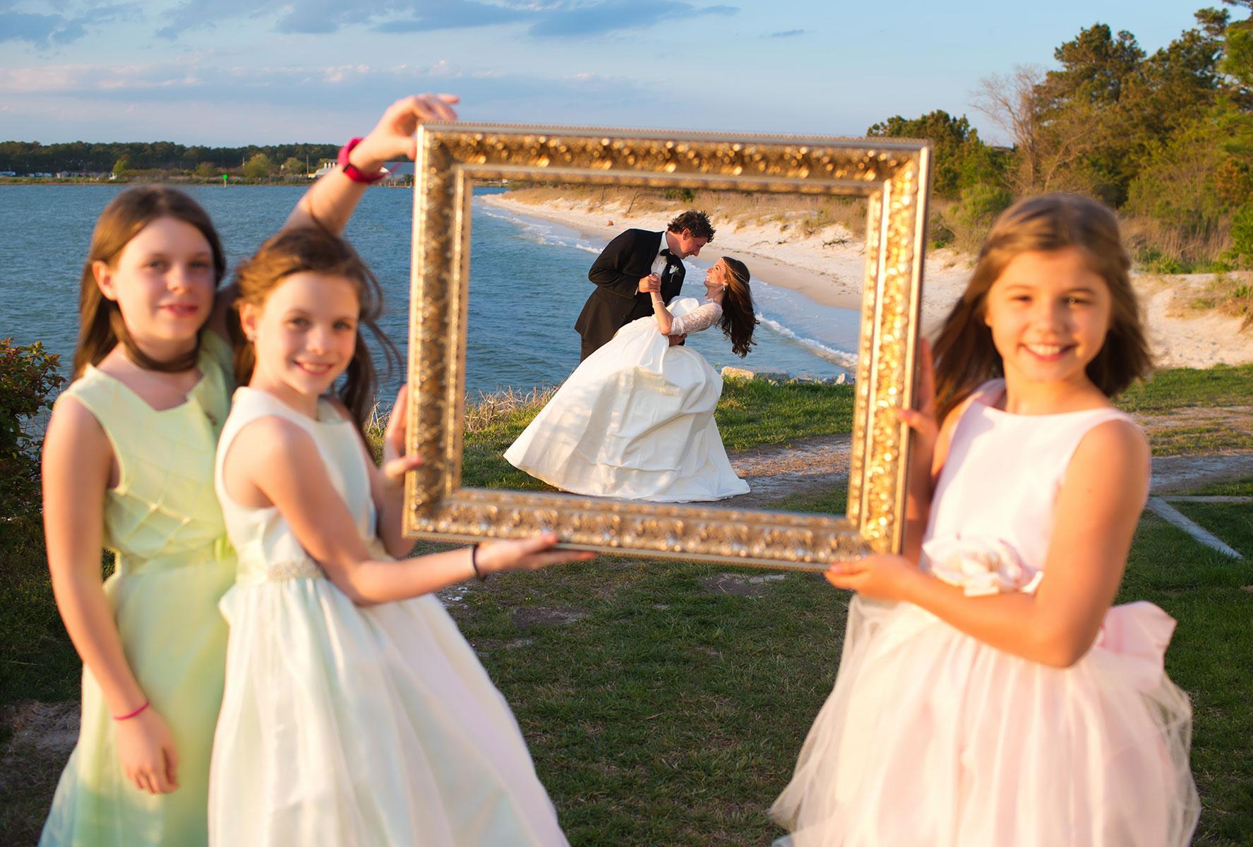 Cape Charles wedding, Kings Creek Marina wedding