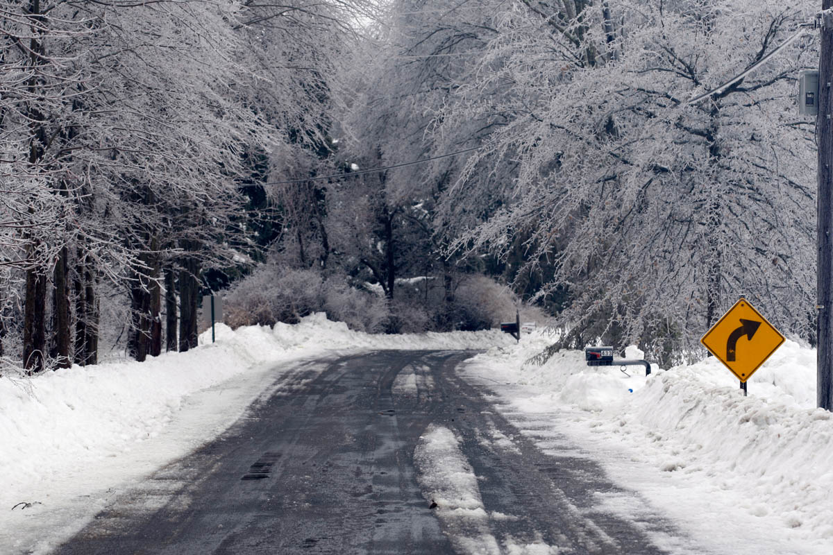 My quiet country road after an ice storm came through Kingwood Township, NJ on 2/2/11.