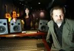 Lucy Clark and Bob Harris, co-creators of Jersey Bada Bing Christmas, at their recording studio in Bridgewater, New Jersey