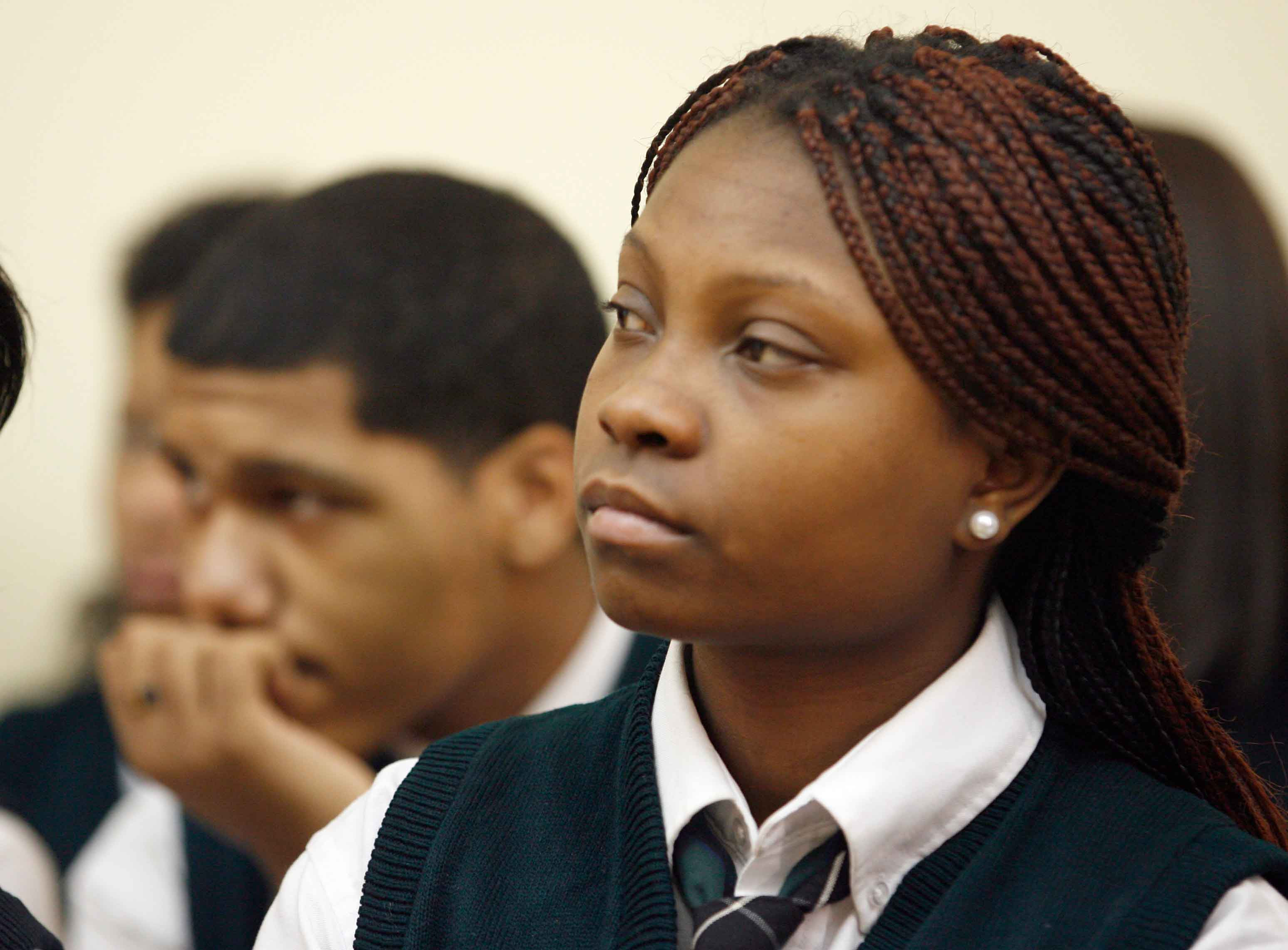 Minority Students listen to speaker at New Jersey Charter Schools Association Convention.