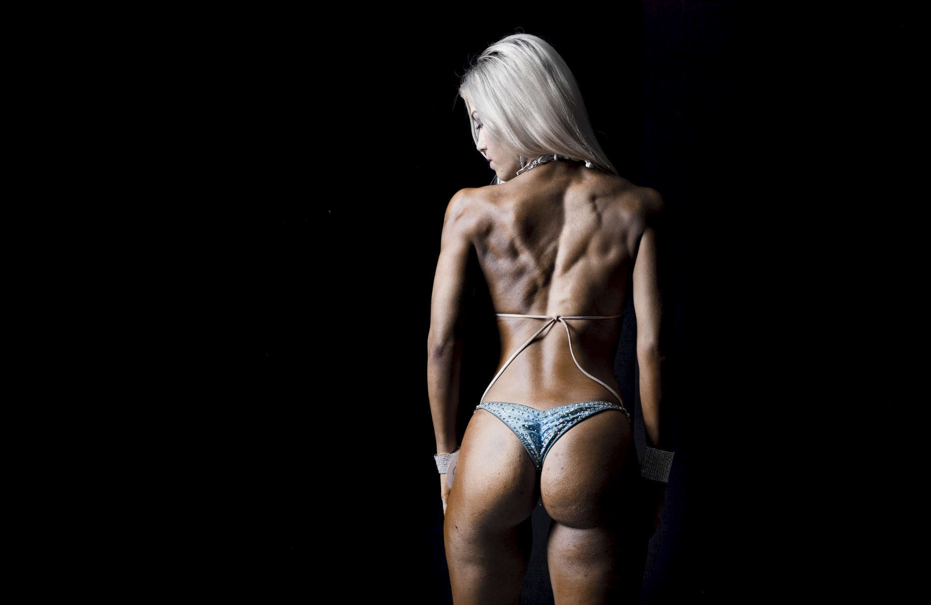 Bodybuilder Rachelle Fawcett poses for a photograph behind the scenes of the 2016 Hong Kong Bodybuilding Championships on 12 June 2016 at Queen Elizabeth Stadium, Hong Kong, China. Photo by Victor Fraile / Power Sport Images
