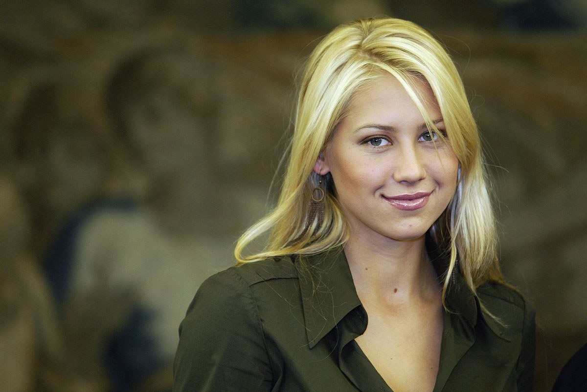 Russian model & tennis player Anna Kournikova poses in Leon, Spain