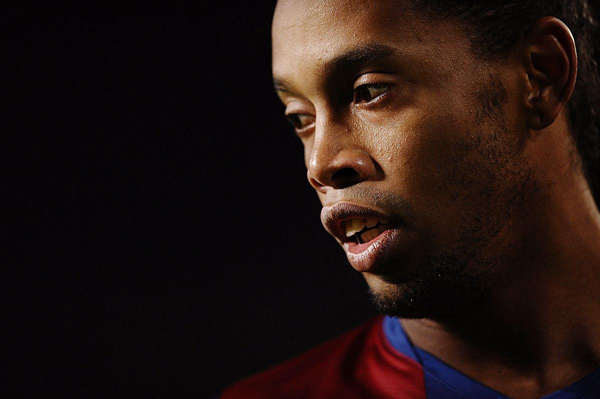 Brazilian footballer Ronaldinho of FC Barcelona pictured in Barcelona