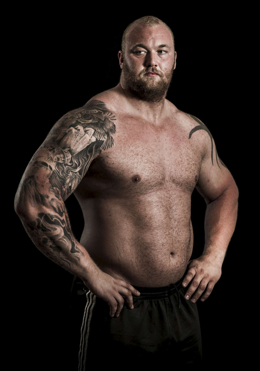 WSM athlete Hafhor Bjornsson of Finland poses for a portrait ahead the World Strongest Man in China. Photo by Victor Fraile / Power Sport Images
