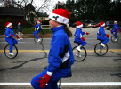 The Andover One Wheelers Unicycle Team made their way up and down Loudon Rd. during the 57th annual Christmas Parade on Saturday Nov. 22, 2008.