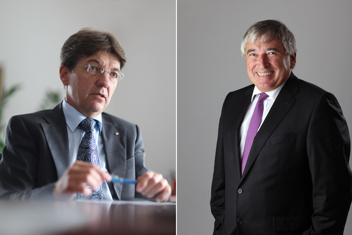 Dr. Peter Hodecek, Chief Executive Officer, AVE, pictured at his office in Prague, Czech Republic, on August 3, 2011 (L), and Zdenek Pelc, President & CEO, GZ Digital Media, pictured in Prague on September 14, 2011.