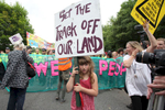 A young protester during an anti-fracking demonstration against the energy company Cuadrilla in Balcombe, UK.
