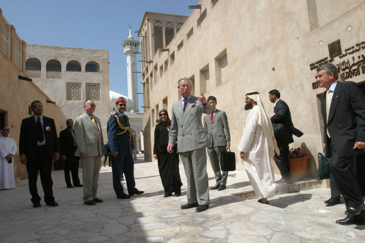 Prince Charles visits Dubai on February 28, 2007.