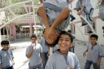 Boys during recess at the Al Shaab Boys School in Jumeirah, Dubai.