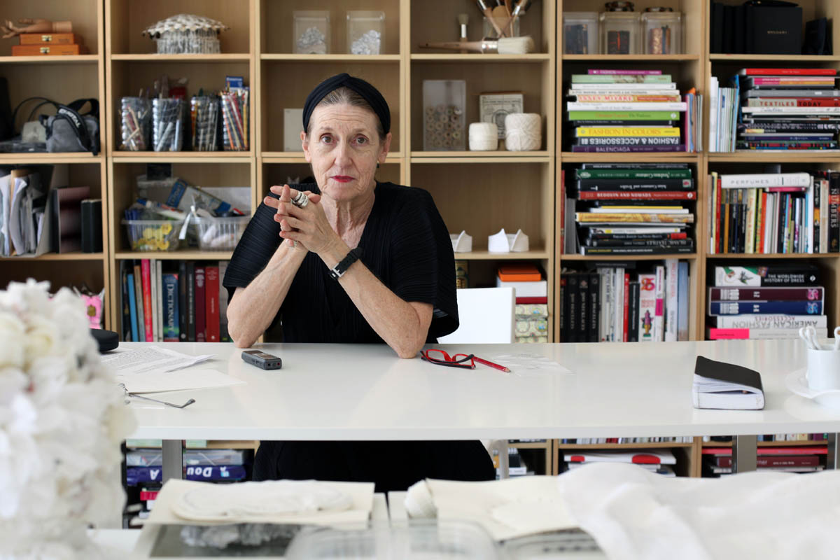 Dubai-based artist Patricia Millns, who is creating an in-house piece of art for Issy Miyake in London, pictured in her home on October 4, 2010.  (For The National)