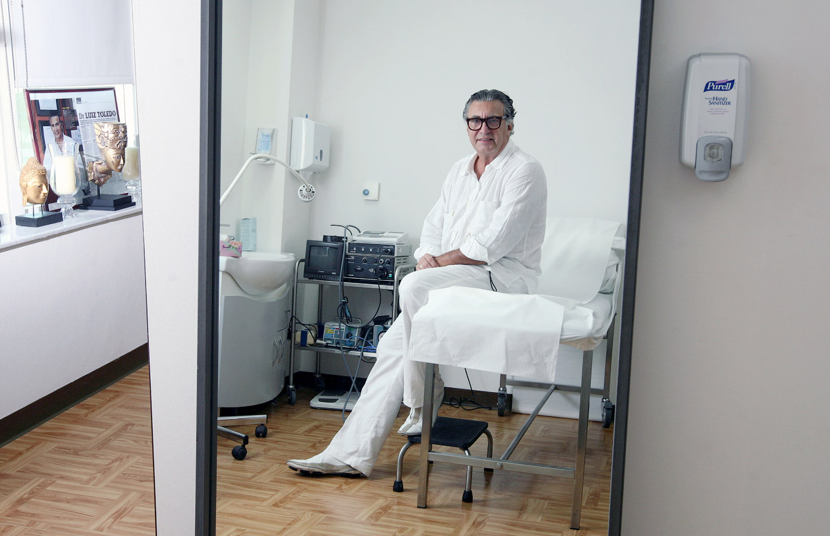 Dr Luiz Toledo, a consultant plastic surgeon, pictured at his office in the International Modern Hospital in Dubai, on February 8, 2010.