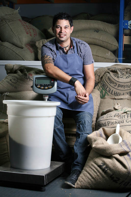 Rosco Franklin, roastmaster at Coffee Planet Roastery