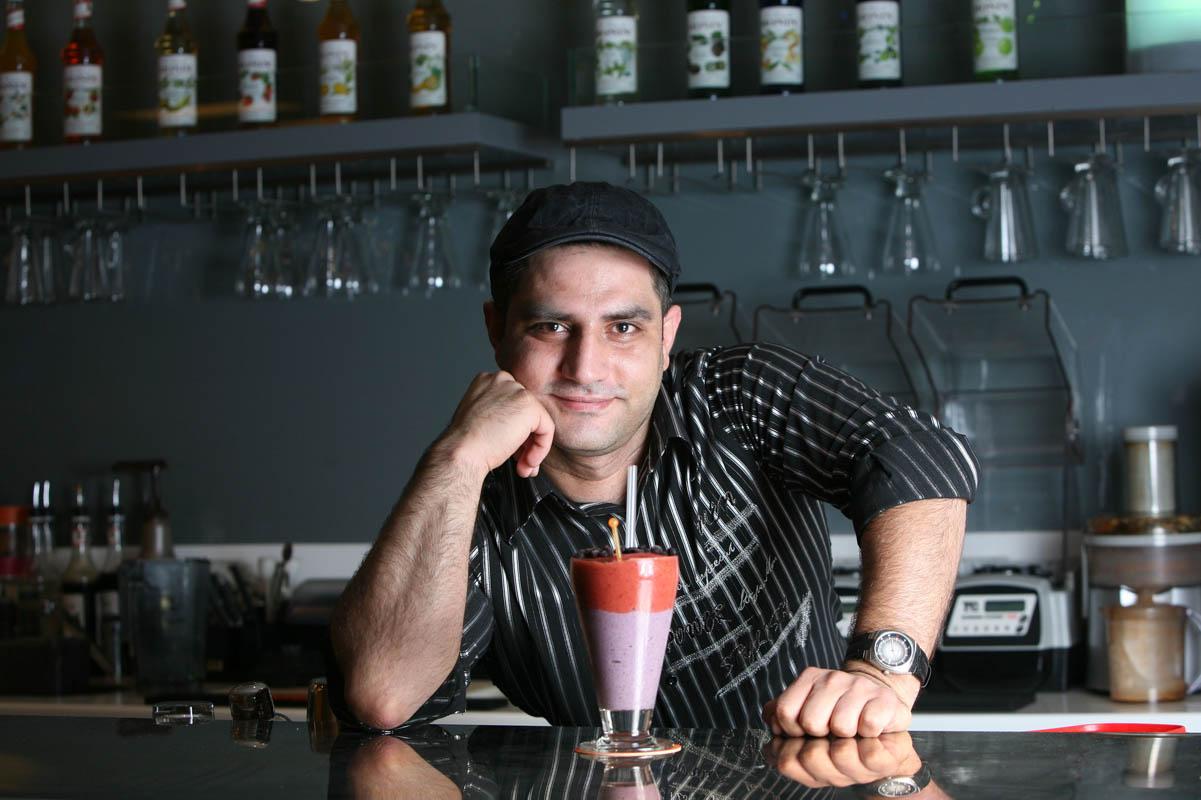Fadi Elia, manager, Watermelon juice bar