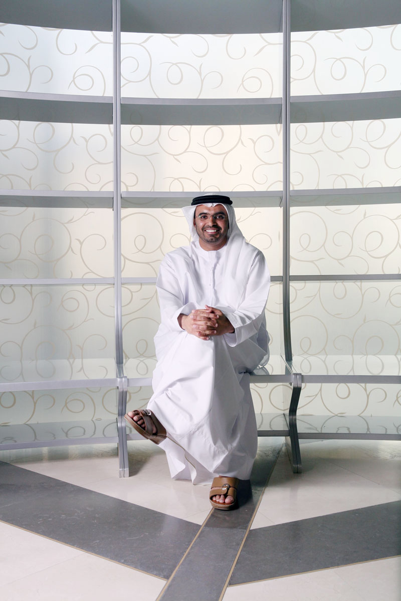 Majid Saif Al Ghurair, the head of the Dubai Shopping Malls Group, the CEO of Al Ghurair Group, and President of Burjuman Shopping Mall, at the Burjuman in Dubai on March 12, 2009.