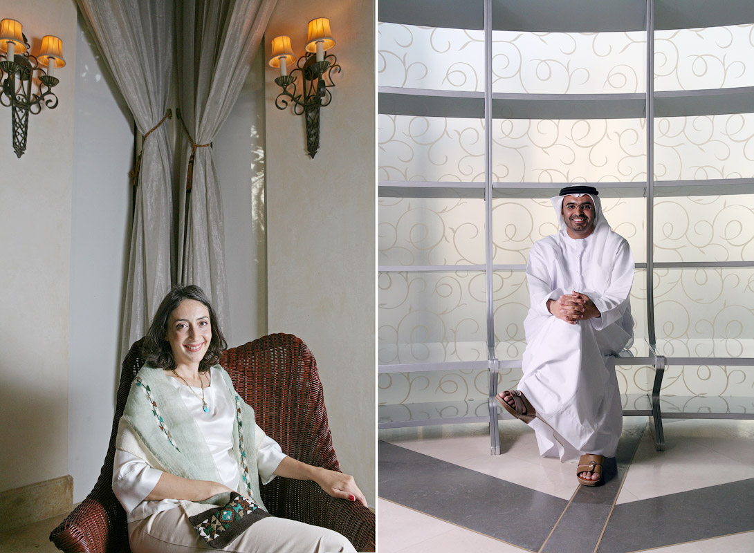 Princess Rym Ali of Jordan, at the One & Only Royal Mirage Hotel in Dubai, on October 11, 2009. Majid Saif Al Ghurair, CEO of Al Ghurair Group, in Dubai on March 12, 2009.