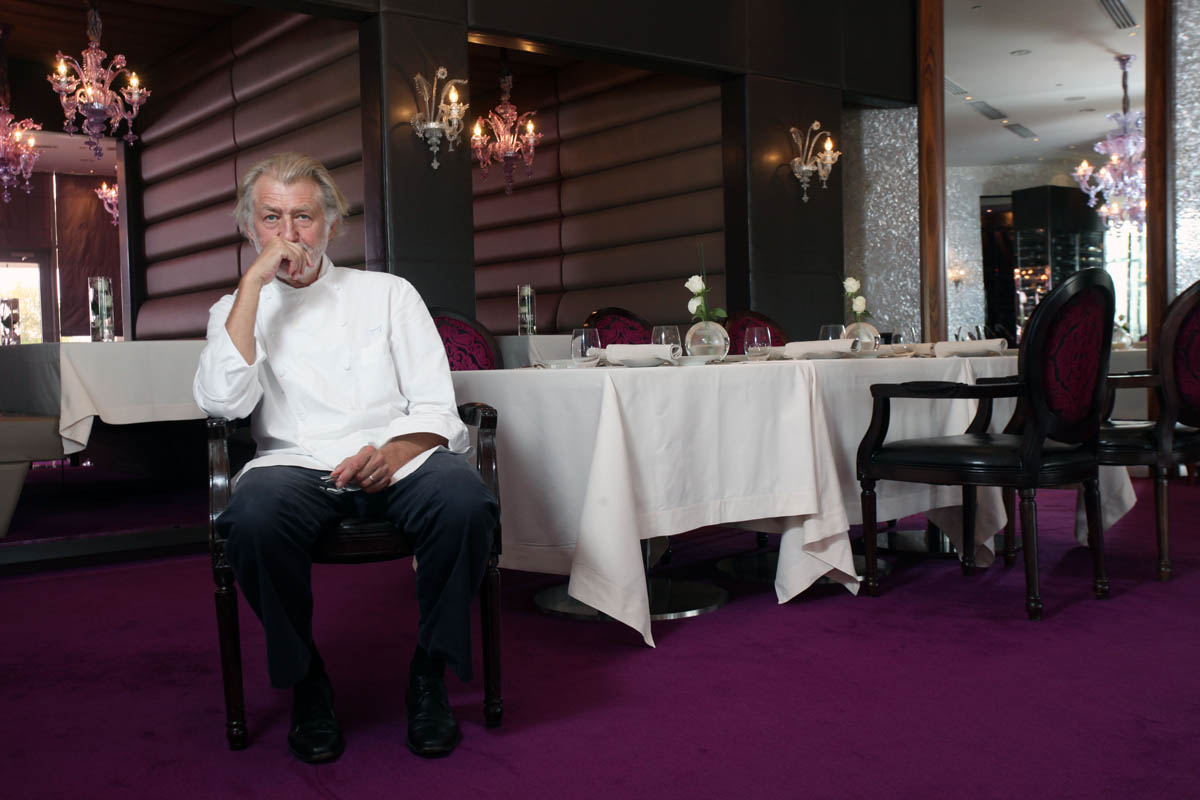 Three Michelin star chef Pierre Gagnaire, pictured at his restaurant, Reflets Par Pierre Gagnaire, at the Intercontinental Hotel in Dubai Festival City in the Gulf emirate on October 25, 2010.  (For The National)