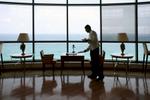 The Royal Club Lounge in Le Meridien Al Aqah Beach Resort in Fujairah, UAE.