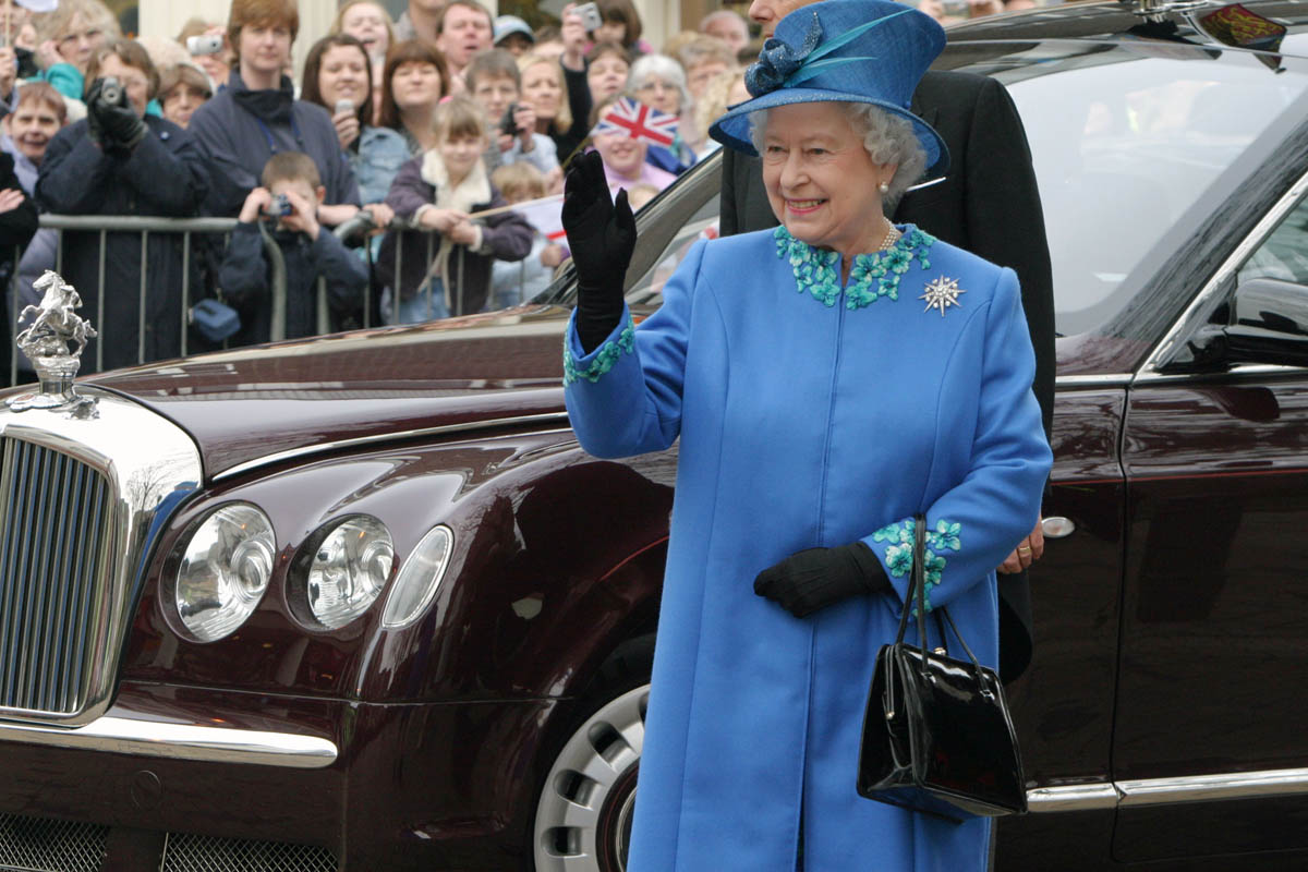 Queen Elizabeth II visits Wakefield on March 24, 2005.