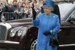 Queen Elizabeth II visits Wakefield on March 24, 2005.