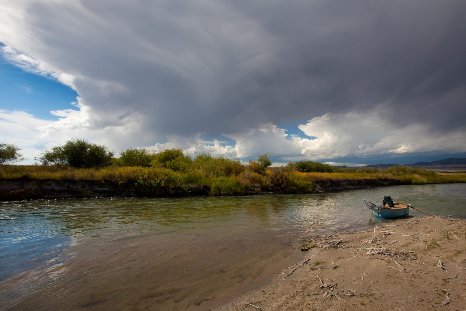 The Beaverhead River is blessed with beautiful, trout filled lairs like this one.