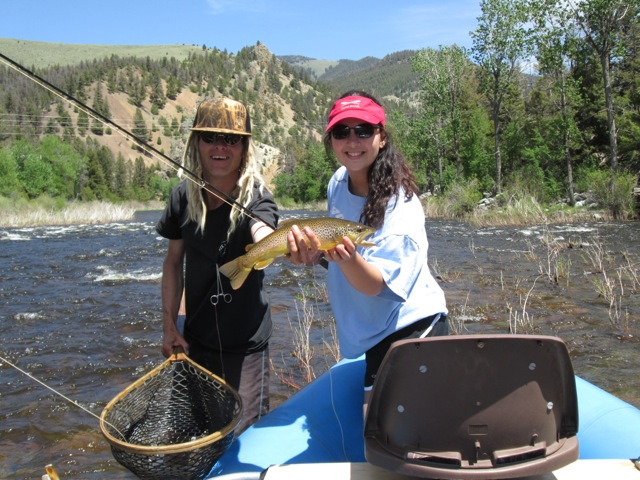 Nikkin with another beautiful Montana, Big Hole River Brown trout.