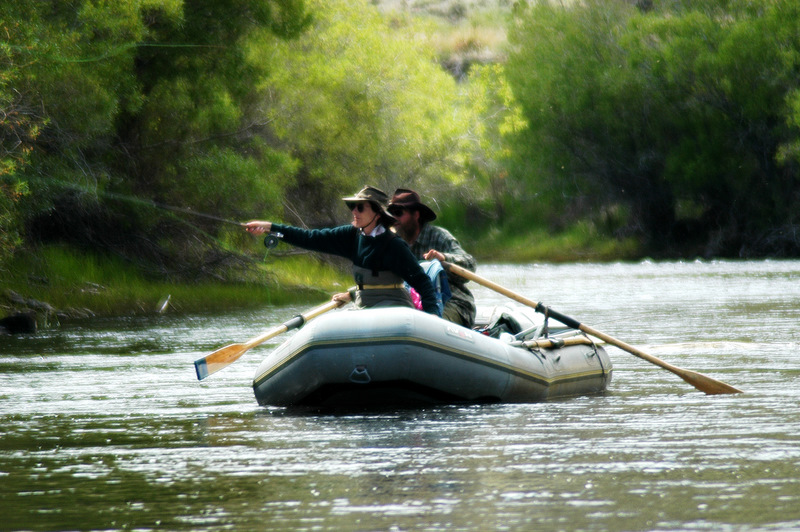 Float fishing on Rock Creek in South West Montana.  This gal can fish!