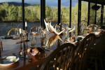 Fine dining from the porch, in the lodge, overlooking the Big Hole River.  Our chef and staff are dedicated to your pallette after a long day fly fishing, .