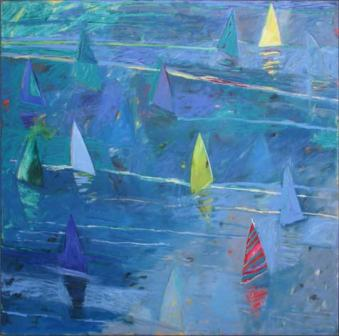 Out of the Blue (6ft square canvas) SOLD