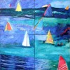 Sailing (on 4 canvas's)SOLD