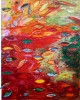 Private CollectionIn Red Pond there are several layers. Floating leaves, below the surface, depth, and reflections.