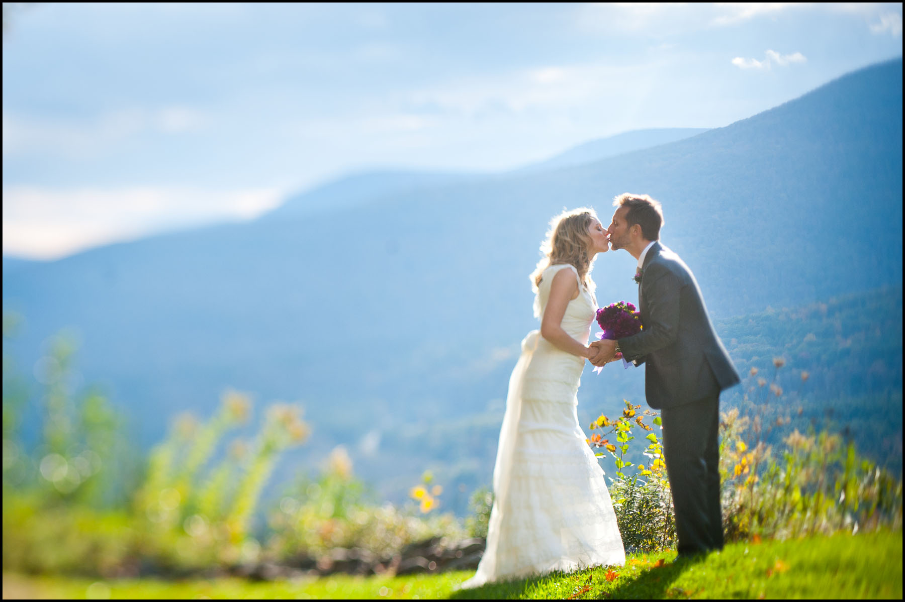 Julie and Rob at their Onteora Mountain house wedding.