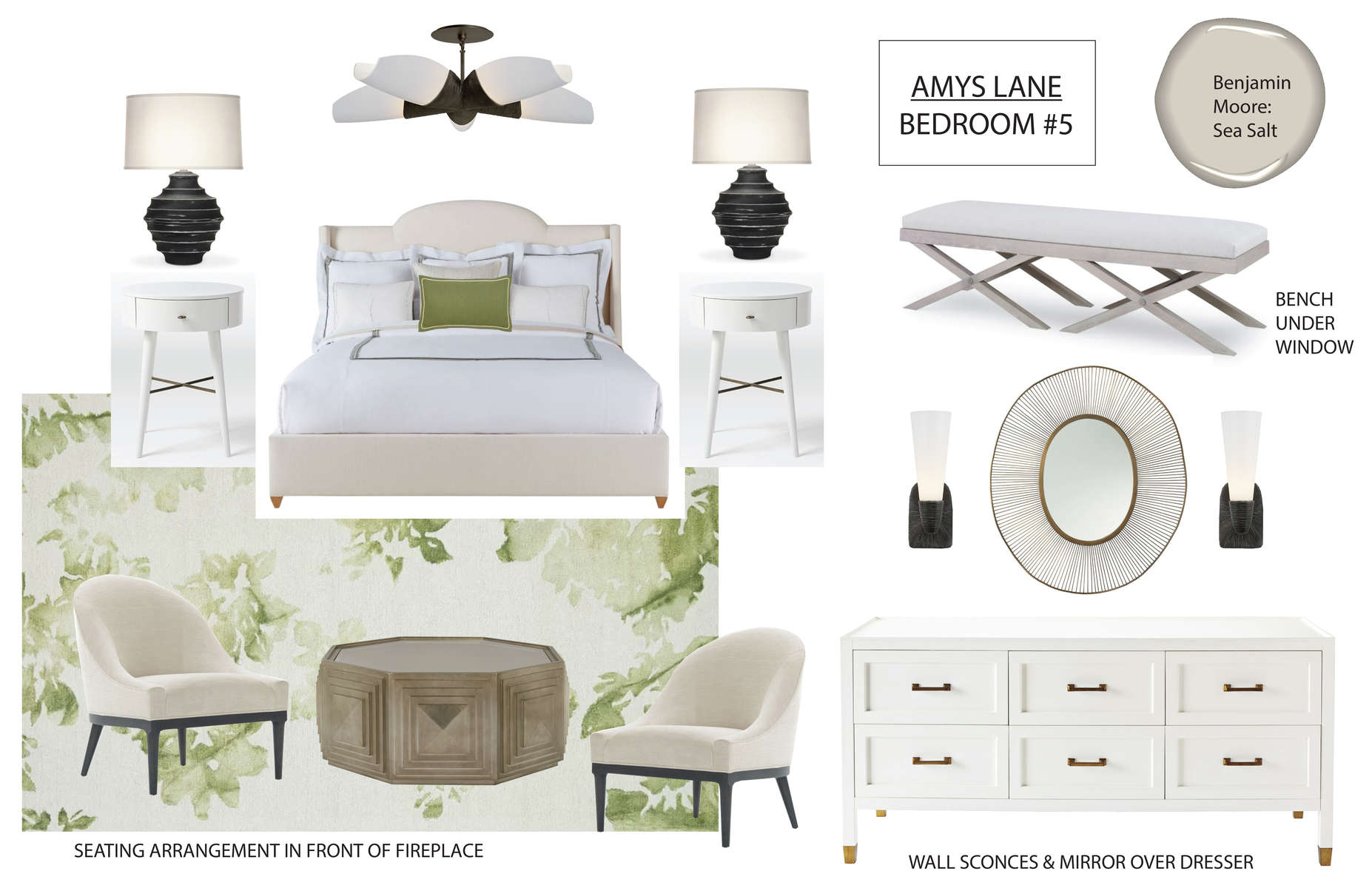 STAGING CONCEPT BOARD FOR BEDROOM #5