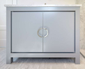 Dimensions: Width 42{quote}Finish: Steel Grey Hardware: Half Round Chrome