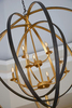 Black & Gold Orb Chandelier