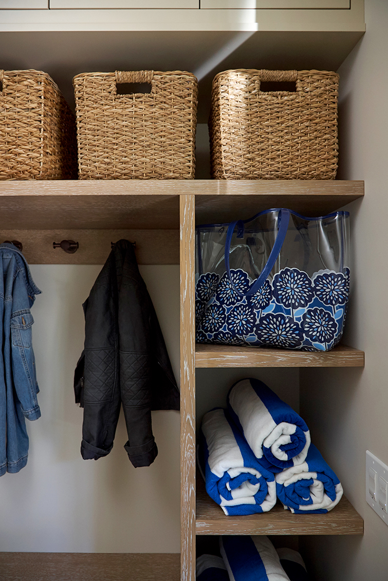 Mudroom organization and cubbies
