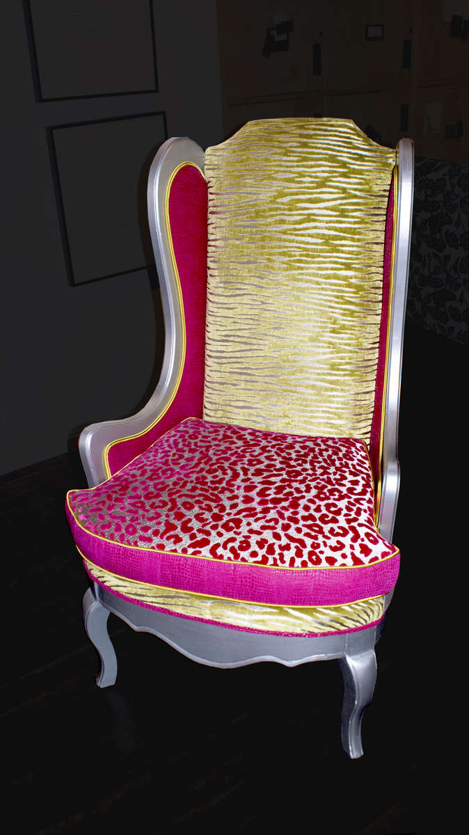 Animalia Britannica:  A {quote}Club{quote} Chair for Sgt. PepperBrit invasion inspired wing chair circa 1600 England:  Old is new again with pop mod textiles from Clarke & Clarke and Duralee...A celebration of The Beatles' 50th...Tres chic in your home or yellow submarine...