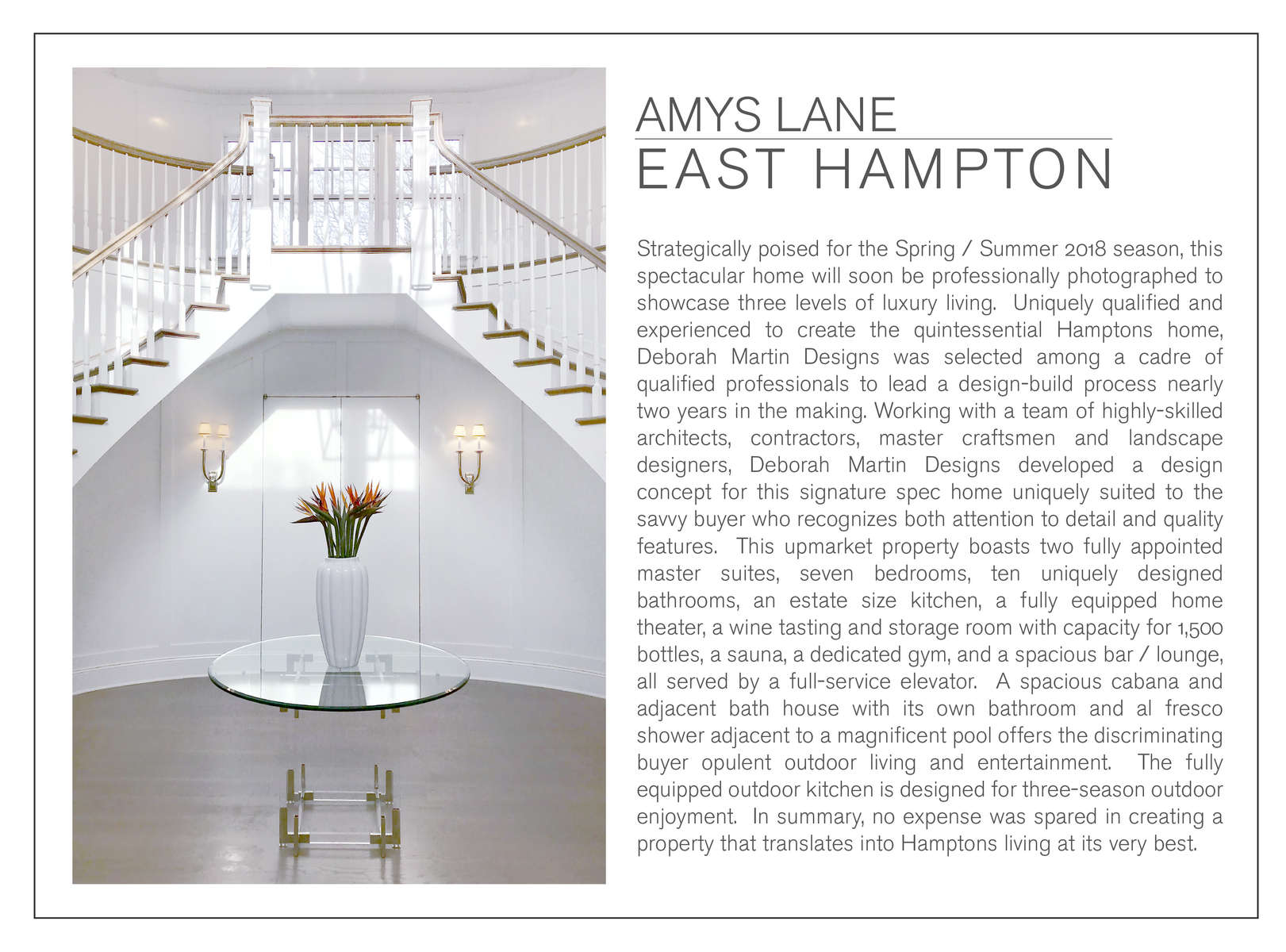 EAST HAMPTON CUSTOM HOME