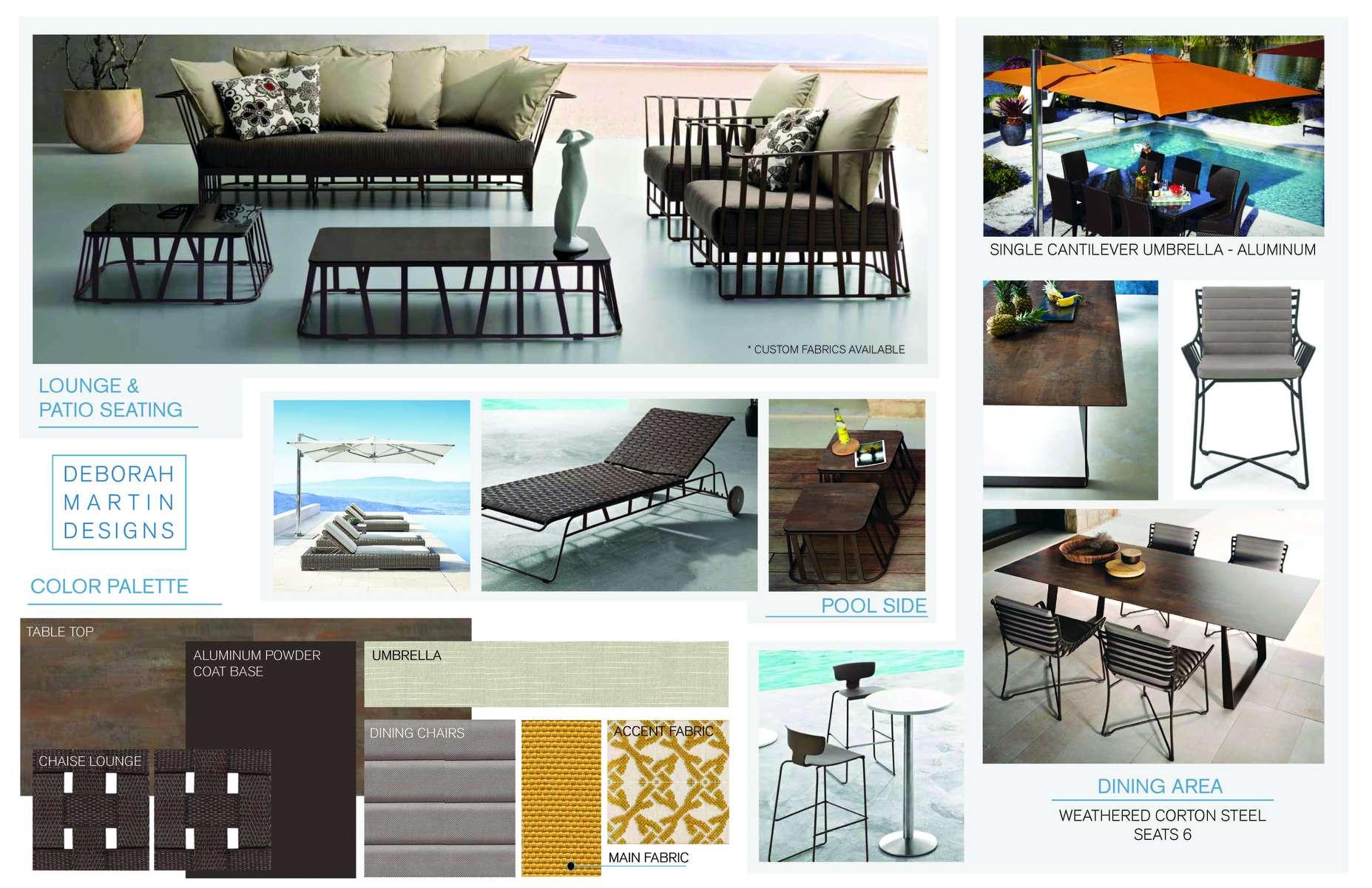Outdoor Furniture Design Presentation with Modern Bronze