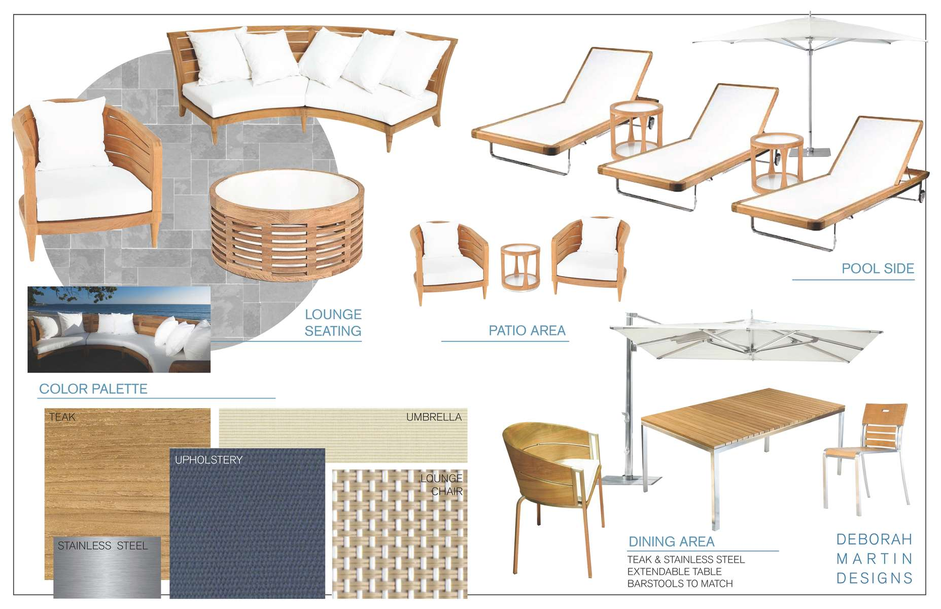 Outdoor Furniture Design Presentation with Transitional Teak