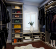 Transitional Walk-In Closet