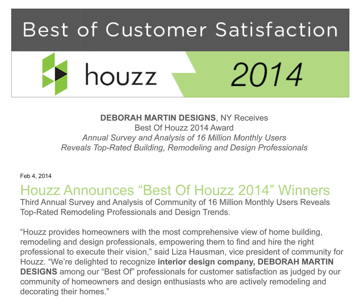 Best of Houzz 2014Winter 2014