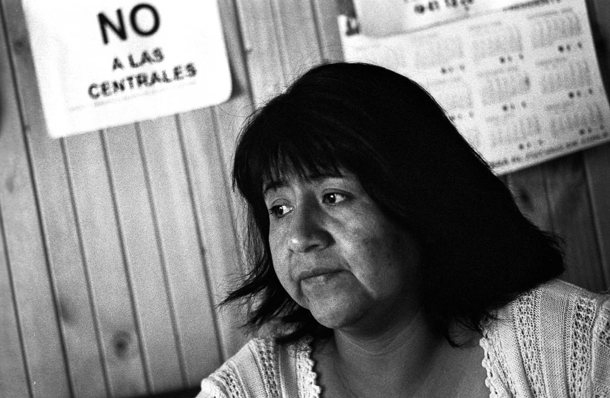 Maria Eugenia Calfunanco is the spokeswoman of the {quote}Comunidad Ancestral Vicente Piutrillan{quote} in the settlement of Carririne and has been struggeling against SN Power since the beginning. She explains that the project will also affect many sacred places of great spiritual and cultural importance to the Mapuche people.