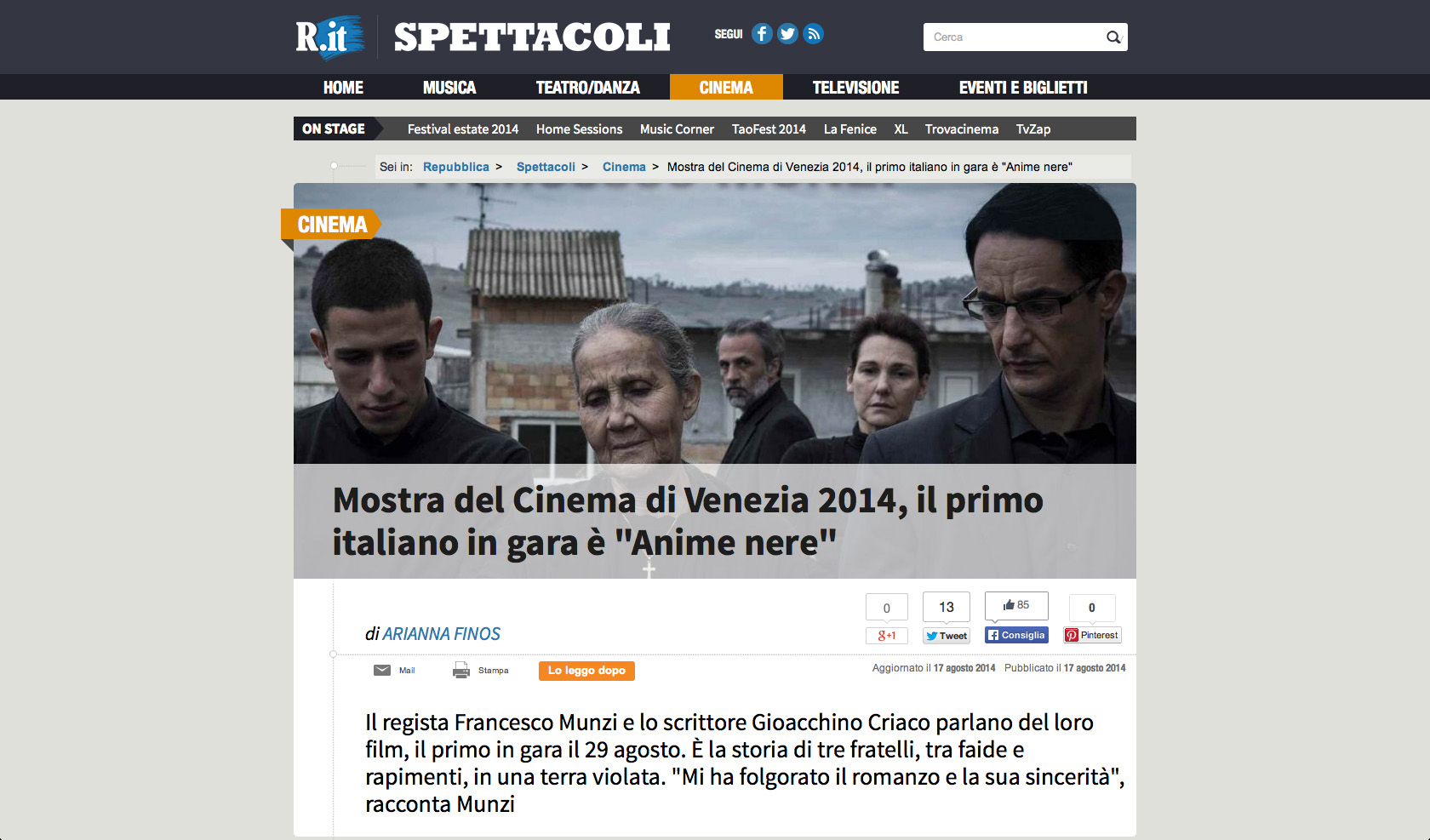 La Repubblica 8-2014 (Italy)