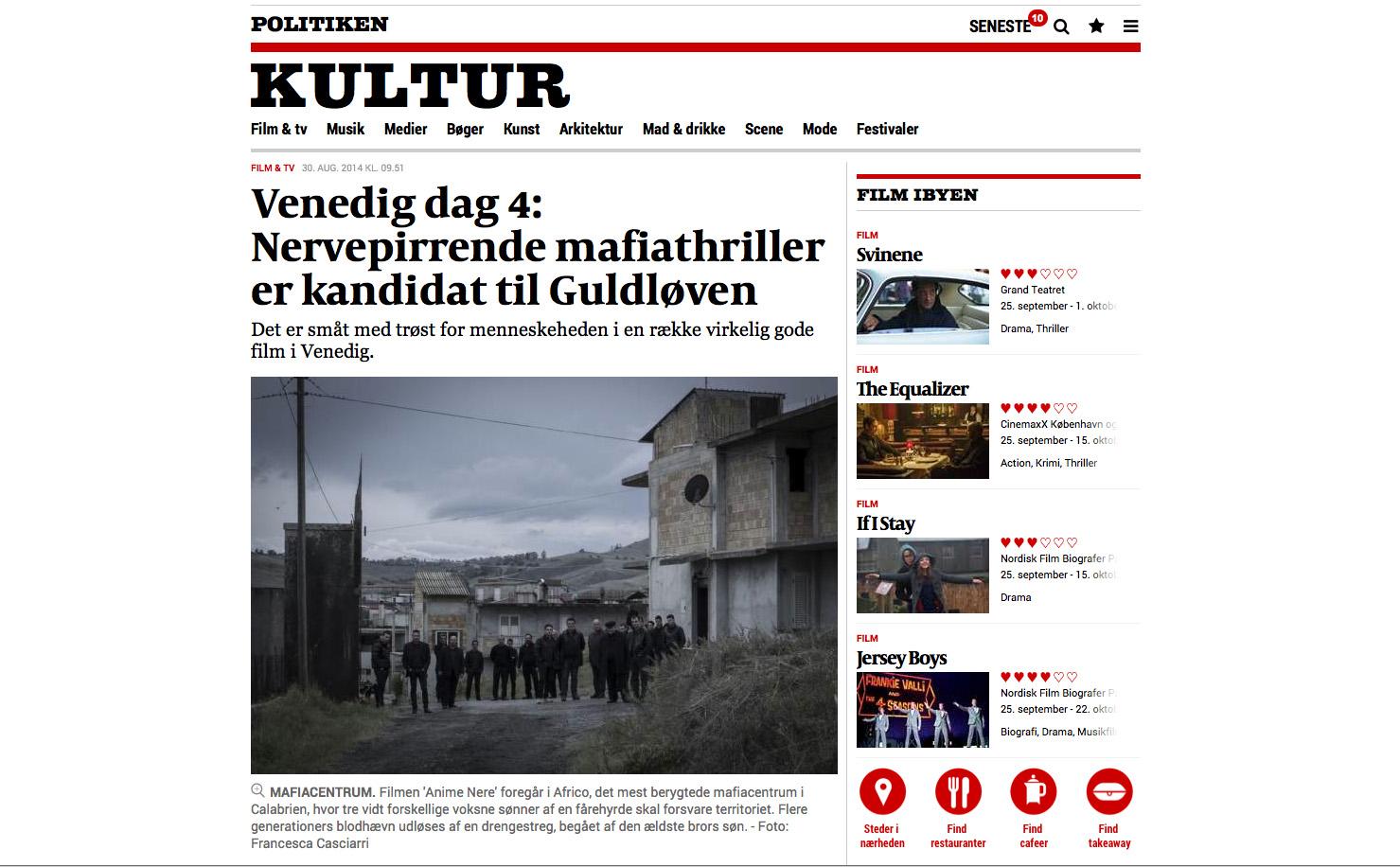 Politiken 8-2014 (Denmark)