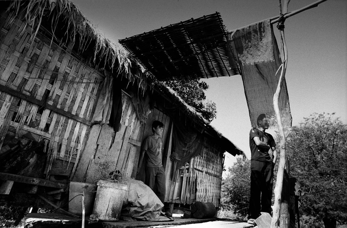 One of the new houses constructed by the villagers far from the river to avoid the flodings caused by the dams on the Se San river in nearby Vietnam.